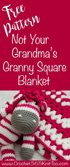 Use leftover yarn to crochet this modern, beautiful crochet granny square baby blanket. So lovely and so easy to make for that darling little one!