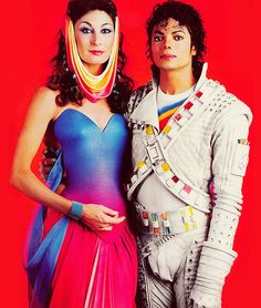Michael Jackson and Anjelica Huston in 1986 -  Captain EO | Curiosities and Facts about Michael Jackson ღ by ⊰@carlamartinsmj⊱