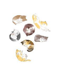 2014 Book illustration-貓語教科書https://www.behance.net/gallery/47147043/2014-Book-illustration-