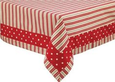 Take a look at this Park Designs Holly Stripe Tablecloth by Festive Entertaining Collection on today! Tablecloth Ideas, Table Runner And Placemats, Mug Rugs, Table Toppers, Applique Quilts, Table Linens, Colorful Decor, Sewing Projects, Handarbeit