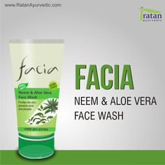 Neem and Aloe vera are well known natural remedy ingredients for a range of skin afflictions. Get the best of Neem and Aloe vera with Facia neem and aloe vera face wash a RatanAyurvedic product. For more product details visit: http://j.mp/FaciaNeemAloevera