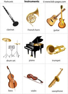 Tons of free printable flash cards. Can be made into cards for reading, matching, vocabulary development Tons of free printable flash cards. Can be made into cards for reading, matching, vocabulary development Preschool Music, Music Activities, Teaching Music, Instruments Of The Orchestra, Musical Instruments, Music Worksheets, Music Flashcards, Music Bingo, Letter Flashcards