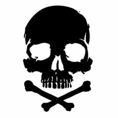 Cranium Skull Tattoo Design, Skull Tattoos, Tribal Tattoos, Skull Stencil, Skull Art, Skull Logo, Skull Painting, Skull And Crossbones, Skull And Bones
