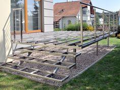 Nerezové terasové zábradlí a nosná          konstrukce terasy 1