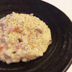 冷やご飯いらず!生米から作る本格的なお店リゾットを、自宅で簡単に作っちゃいます♡アルデンテ食感がたまりません(*^^*)