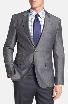 BOSS HUGO BOSS 'Johnston' Trim Fit Herringbone Sportcoat available at #Nordstrom