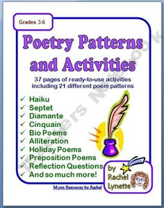 Poetry Writing Unit with 21 Poem Patterns