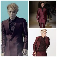 "for ""Just Another Girl"" mv, ""the ensemble is from #Korean designer @kimseoryong .... This same suit was previously worn by Teen Top's CAP in the October 2013 issue of Vogue Girl."" (credit: kfashionista and JAG mv) #suit #menswear #fashion #KimJaejoong #KoreanIdol #김재중 #Korean #celebrity #singer #actor"