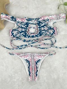 SHARE & Get it FREE | Printed Crossover Off The Shoulder Bikini SetFor Fashion Lovers only:80,000+ Items • New Arrivals Daily Join Zaful: Get YOUR $50 NOW!