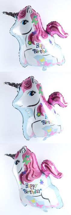 [Visit to Buy] 66*57.5cm Happy Birthday Horse Balloon Aluminum Foil Balloons Party Decoration Balloons Celebration Supplies #Advertisement