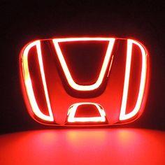 Bearfire 5D Led Tail Light Whith Original Emblem for HONDA (red2)