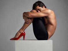 Muscle men in heels