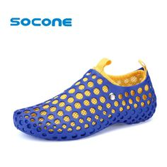 competitive price b18cb 6cc07 US  19.37 49% OFF Aliexpress.com   Buy Socone 2019 Outdoor Aqua Walking  Breathable Summer Beach Shoes Ladies Comfort Slip On Water Shoes Light and  ...