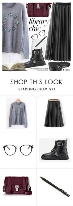 """Study Session: Library Chic"" by pokadoll ❤ liked on Polyvore featuring Proenza Schouler and Pentel"