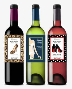 personalized BRIDAL SHOWER wine bottle labels by shadow090109. , via Etsy.