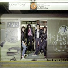 The Ramones take the subway :)