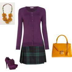 Deep Autumn - purple/orangeyellow