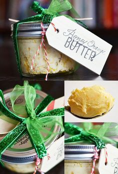 To go with the cornbread?  Honey-Orange Flavored Butter | 24 Delicious DIY Food Gifts In Jars