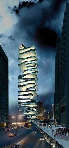 Modern structure in Hong Kong -- Curated by: Ecora Engineering & Resource Group 579 Lawrence Avenue Kelowna BC Unusual Buildings, Interesting Buildings, Amazing Buildings, Modern Buildings, Future Buildings, Unusual Houses, Architecture Unique, Futuristic Architecture, Interior Architecture