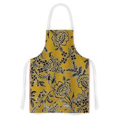 KESS InHouse Vikki Salmela 'Golden Blossom' Gold Black Artistic Apron, 31 by 35.75', Multicolor ** Check out this great image  : Bakeware