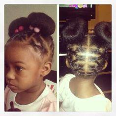 Enjoyable Cute But Too Much Hair For A Little Girl Nakia Inspired Short Hairstyles For Black Women Fulllsitofus