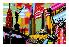 New York - Pop Art - Lobo #lobopopart #artistabrasileiro #paintings #fineart #popart