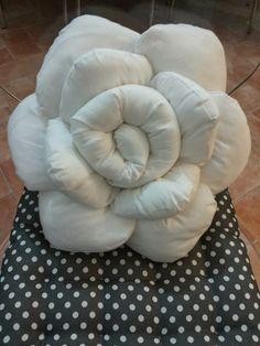 cuscino a forma di rosa, rosso a pua, doubleface! | cuscini