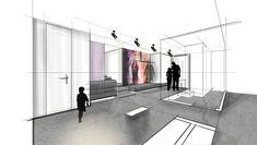 DG- Wohnung | Mayr & Glatzl Innenarchitektur GmbH Designs To Draw, Sketch, Interiors, Drawing, Interior Design, Detached House, Real Estates, Floor Layout, Sketches
