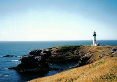 Lighthouse near Newport Beach, Oregon.