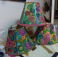 painted lampshade - Google Search