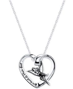 Disney Engraved Tinker Bell Pendant Necklace in Sterling Silver..I need this :)