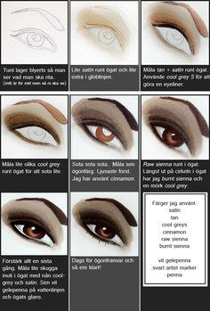 Promarker colours - eyes