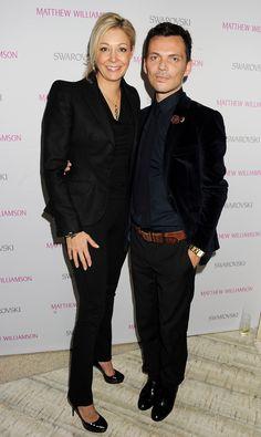 Nadja Swarovski with Matthew Williamson at the VIP Screening of his 15th Anniversary Film at Nobu (Image courtesy of Dave Bennett)
