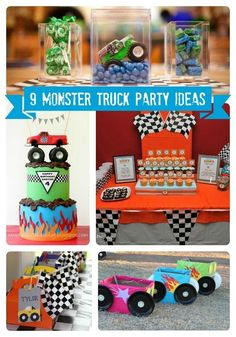 9 Monster Truck Party Ideas from @SpaceshipsLaserBeams www.spaceshipsandlaserbeams.com #boypartyideas #birthday