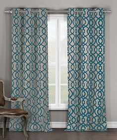 Look at this #zulilyfind! Teal & Taupe Harris Blackout Curtain Panel - Set of Two #zulilyfinds