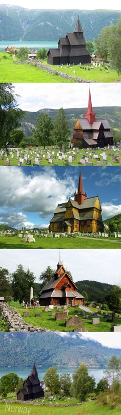 Stave churches, Norway    My first wedding was in a stave church in Norway - very fairytale-esque!