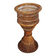 Make an Offer on the Vintage Wicker Floor Plant Stand Wicker Planter, Planters, Floor Plants, Late 20th Century, Small Furniture, Modern Materials, Home Accents, Vintage Antiques, Im Not Perfect
