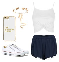"""""""Untitled #18"""" by adagalo on Polyvore featuring VILA, Topshop, Converse, Eugenia Kim and BaubleBar"""