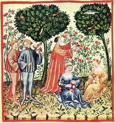 primavera da Tacuina sanitatis (XIV secolo)