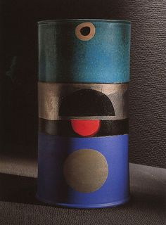 Vase from the Ceramics of Darkness series | Ettore Sottsass