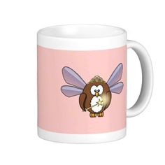 owl fairy coffee mug
