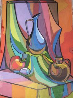 Декоративный натюрморт - Изобразительное искусство - Акварель, гуашь