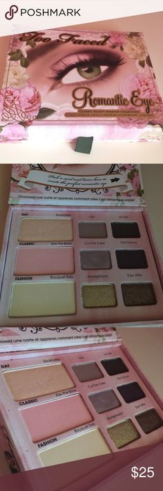 Too Faced Romantic Eye Slightly used, no box Too Faced Makeup Eyeshadow