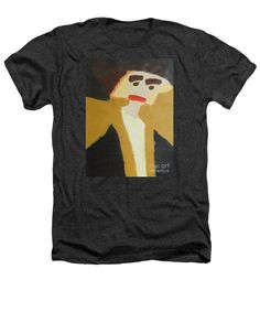 Patrick Francis Charcoal Designer Heathers T-Shirt featuring the painting The Graduate 2014 by Patrick Francis