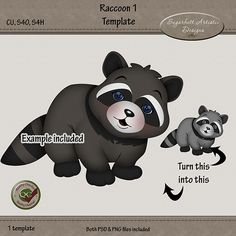 You can find links to my stores for this template on my blog here http://sugarbuttartisticdesigns.blogspot.com/2014/10/new-raccoon-templates-now-in-my-stores.html