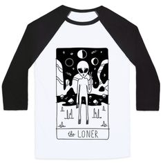 Show off your love of the spiritual world with this tarot card inspired, astrological introvert's shirt. Show the world that you are a loner and you are proud! I want to believe. Free Shipping on U.S. orders over $50.00