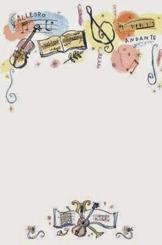 Music Themed Party: Free Printable Frames, Borders and Labels. Borders For Paper, Borders And Frames, Music Border, Music Clipart, Printable Frames, Music Themed Parties, Ecole Art, Music Images, Writing Paper