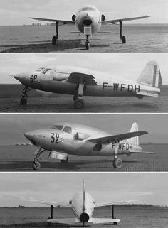Sud-Ouest SO.6000 Tritón First French produced jet aircraft.  Designed in secret during occupation.  First flew Nov. 1946 using a captured German Jumo engine.