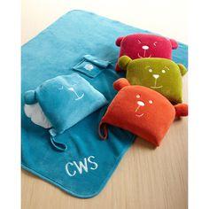 Lug Travel Blanket Set featuring polyvore home bed & bath bedding blankets sunset plush bedding plush blankets