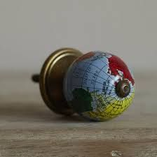 Glass Globe Door Knob 4 handmade venetian glass cabinet knob for furniture, kitchen and